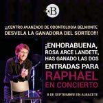 Ganador del sorteo de las entradas para el concierto de Raphael